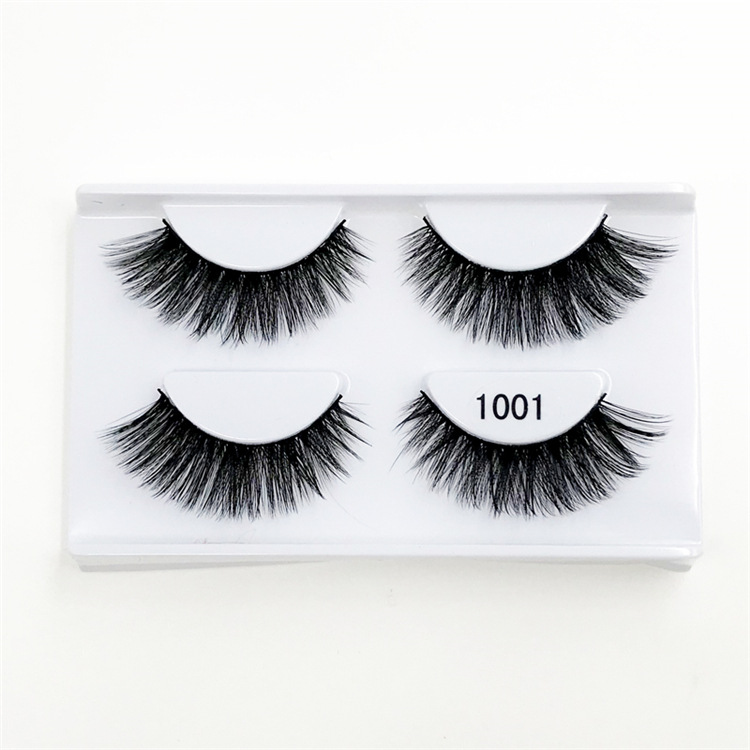 Wholesale handmade reusable thick curling false eye lashes with custom package strip 3d mink eyelashes private label vendor