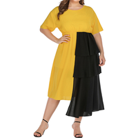 High quality new design elegant sexy plus size women dress clothing