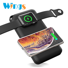 External Battery Pack Wireless Charger for Apple <strong>Watch</strong> 1 2 3 4 Wireless Charger Power Bank 10000mAh Portable Outdoor