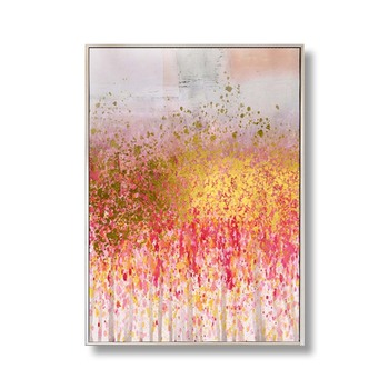 Wholesale 3D Artwork Handmade Acrylic Heavy Texture Palette Warm Color Abstract Oil Paintings for Wall Decor