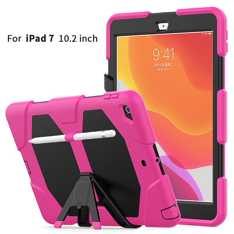 water resistant 10.2 inch heavy duty shockproof silicone tablet case cover for <strong>ipad</strong> 10.2 2019