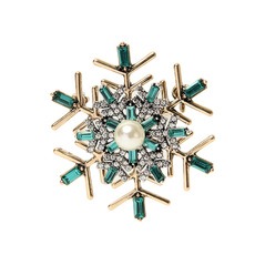 Fashion Vintage Exquisite Dark Green Sea Turtle Crystal Rhinestone Brooch Pin For Cloth Decoration Jewelry