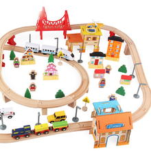 108 PCS Wooden Toy Train Ttack Set for Children