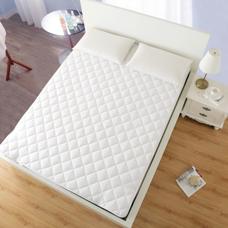 wholesale hot selling fashion hotel bed cheap queen size quilted mattress pad mattress topper - Jozy Mattress | Jozy.net