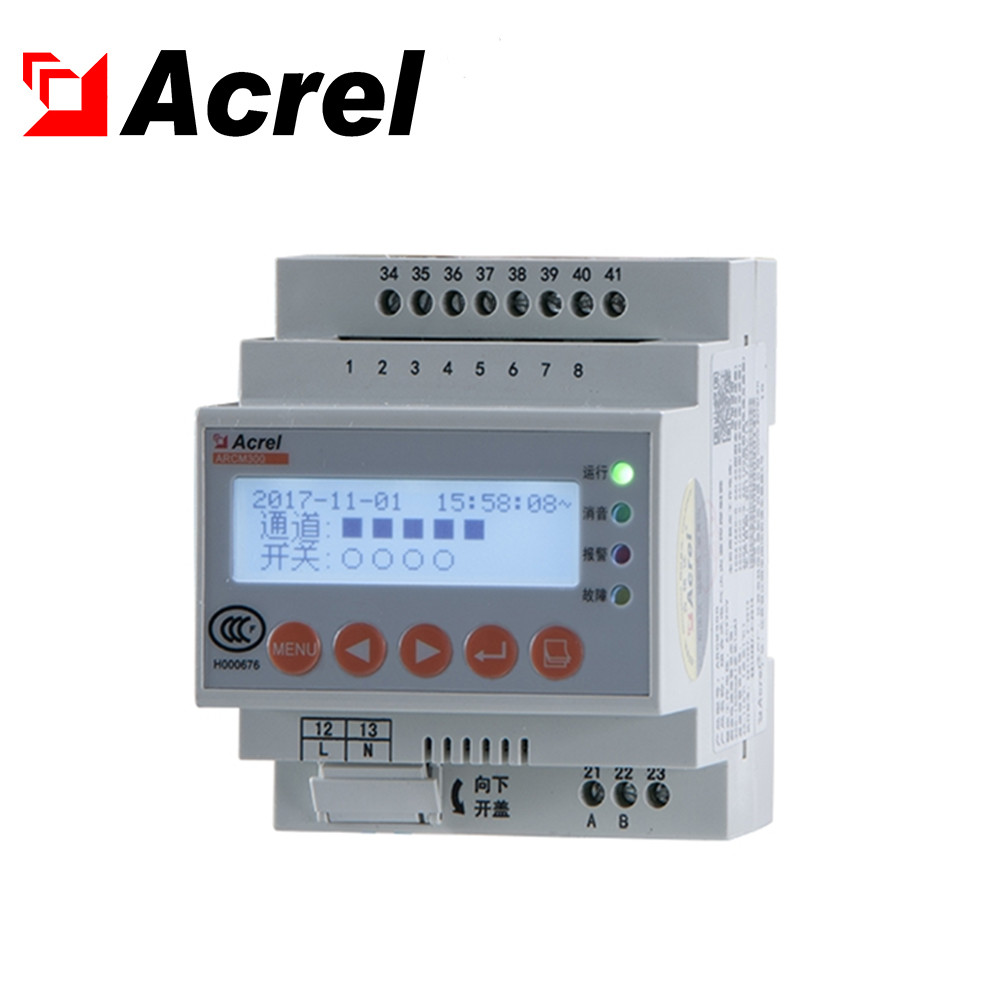 Acrel ARCM300-<strong>J1</strong> residual current electrical fire monitoring detector Din rail leakage current meter