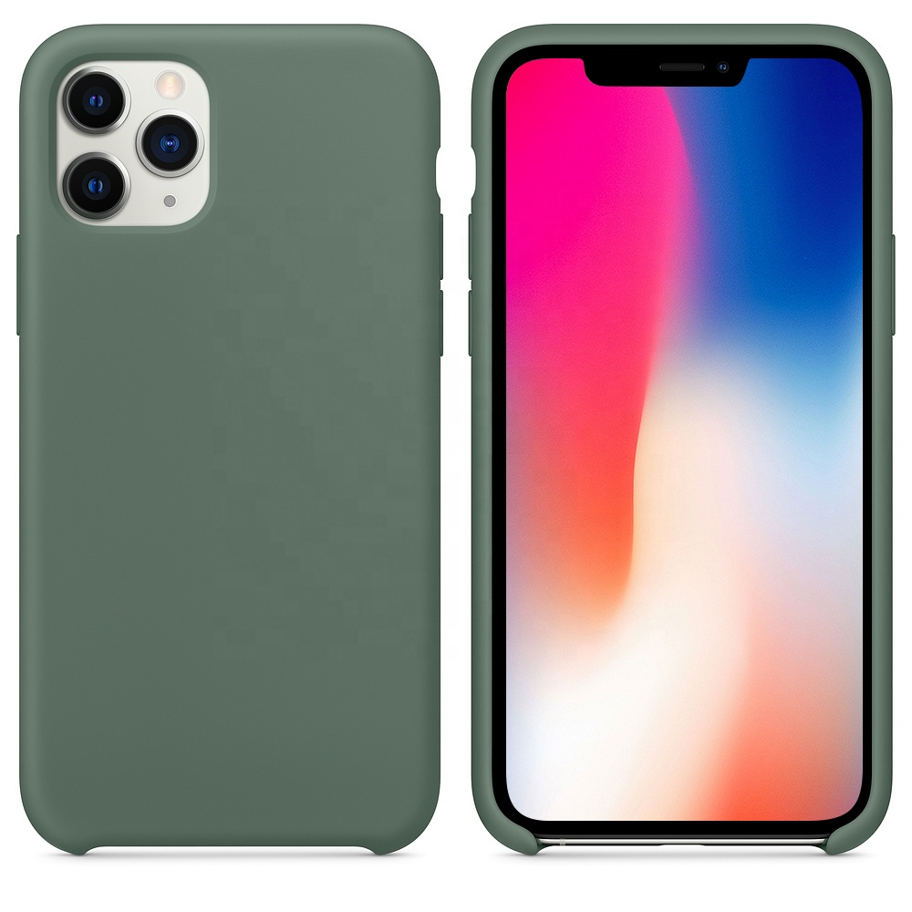 Custom Original Shockproof Silicone Liquid Mobile Back Shell Cell Cover Phone Case For Iphone 8 6 7 10 X XS <strong>max</strong> 11 pro For Apple