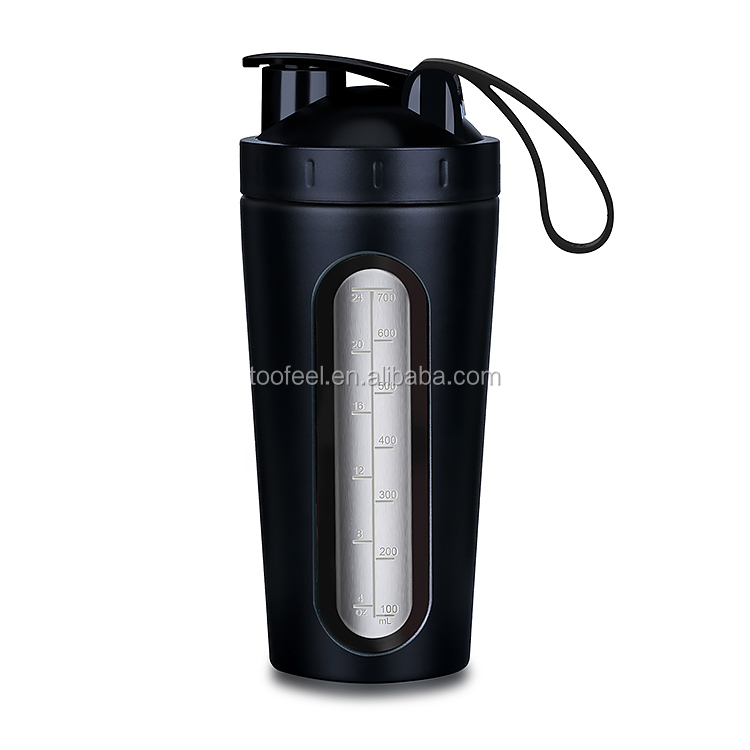 Best Seller Patent Unique Design Gym Shaker Bottle with Visible Window