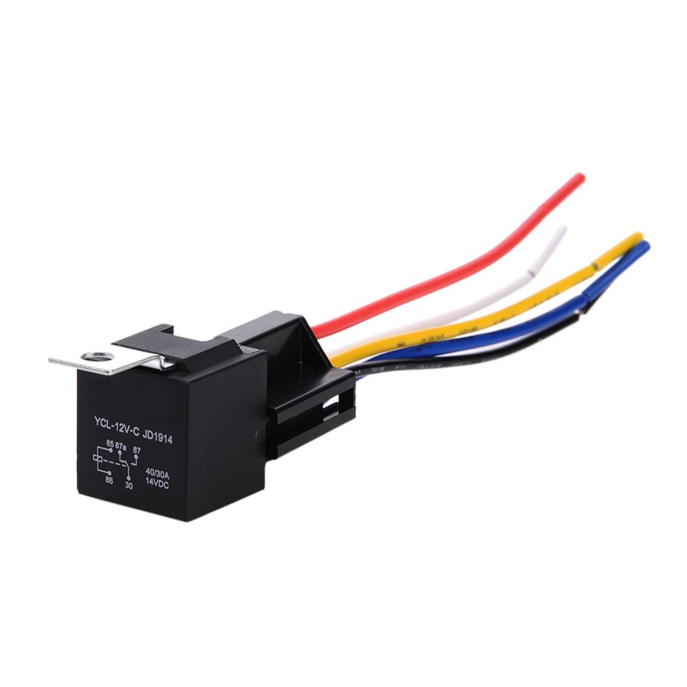 Smart Electronics~12V 30/40 A 5 Pin 5P Automotive Harness New Arrival High-quality Car Auto Relay Socket 5 Wire