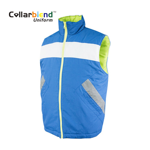 New fashion fancy durable eco-friendly running men cotton quilted puffer vest with reflective tape