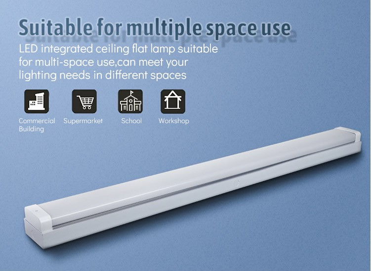 NEW model 40w 50w 60w 80w airport shop dust proof batten fitting Led Pendant Linear Light