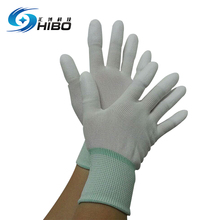 Professional factory esd nylon esd top fit gloves with pu coated