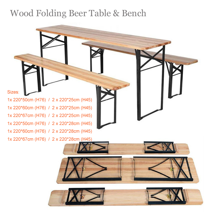 Wood Beer Tables