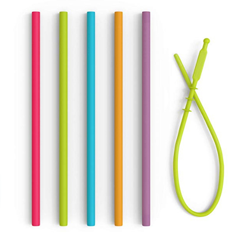 Big size reusable bulk silicone drinking straws for kids