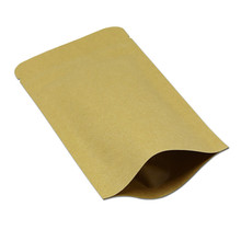 In stock wholesale plastic kraft <strong>paper</strong> food packaging bag for snack with window