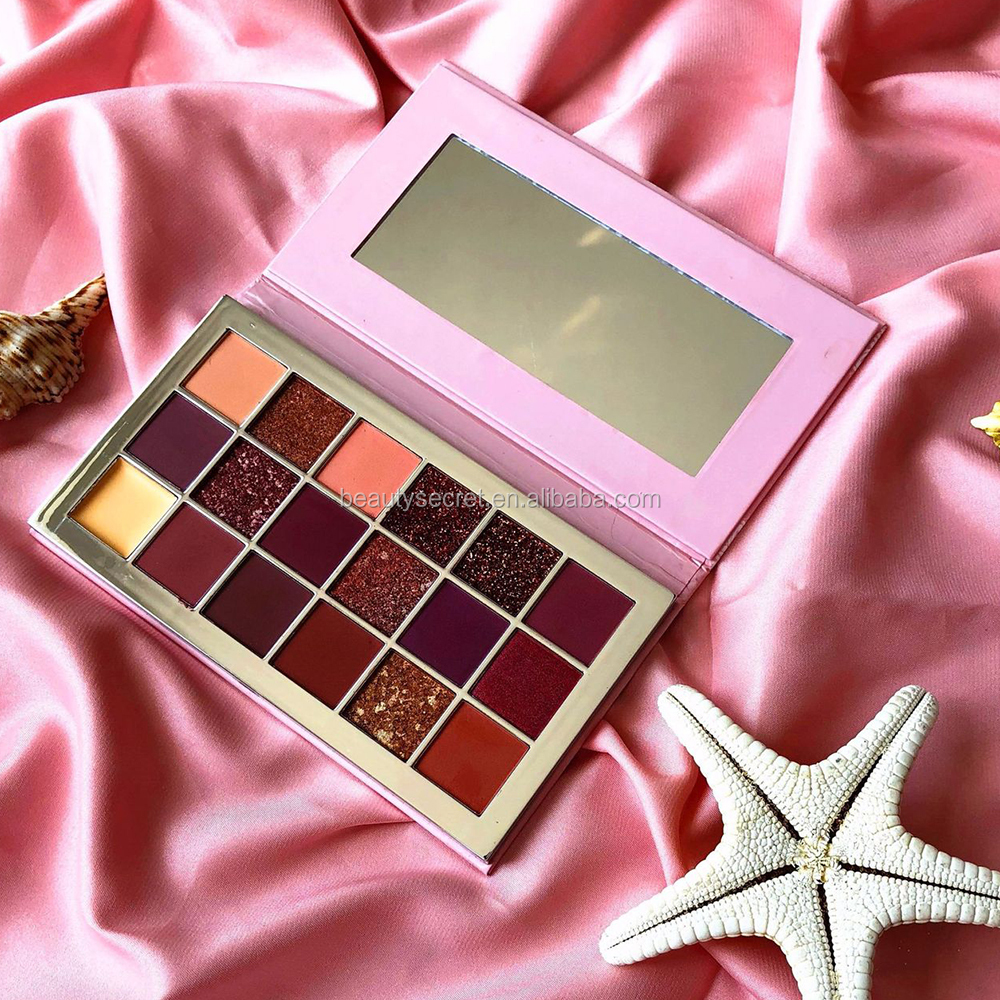 Newest 18 Color Eyeshadow Palette Warm Color Shimmer Matte Eyeshadow Cosmetic