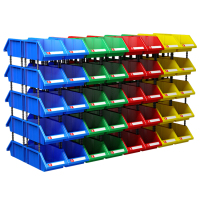Industrial shelf stackable plastic tool accessories storage bin boxes