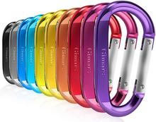 2019 Amazon High Quality Different Colours DFactory wholesale cheap mini 4cm d shape <strong>flat</strong> wire gate carabiner clip