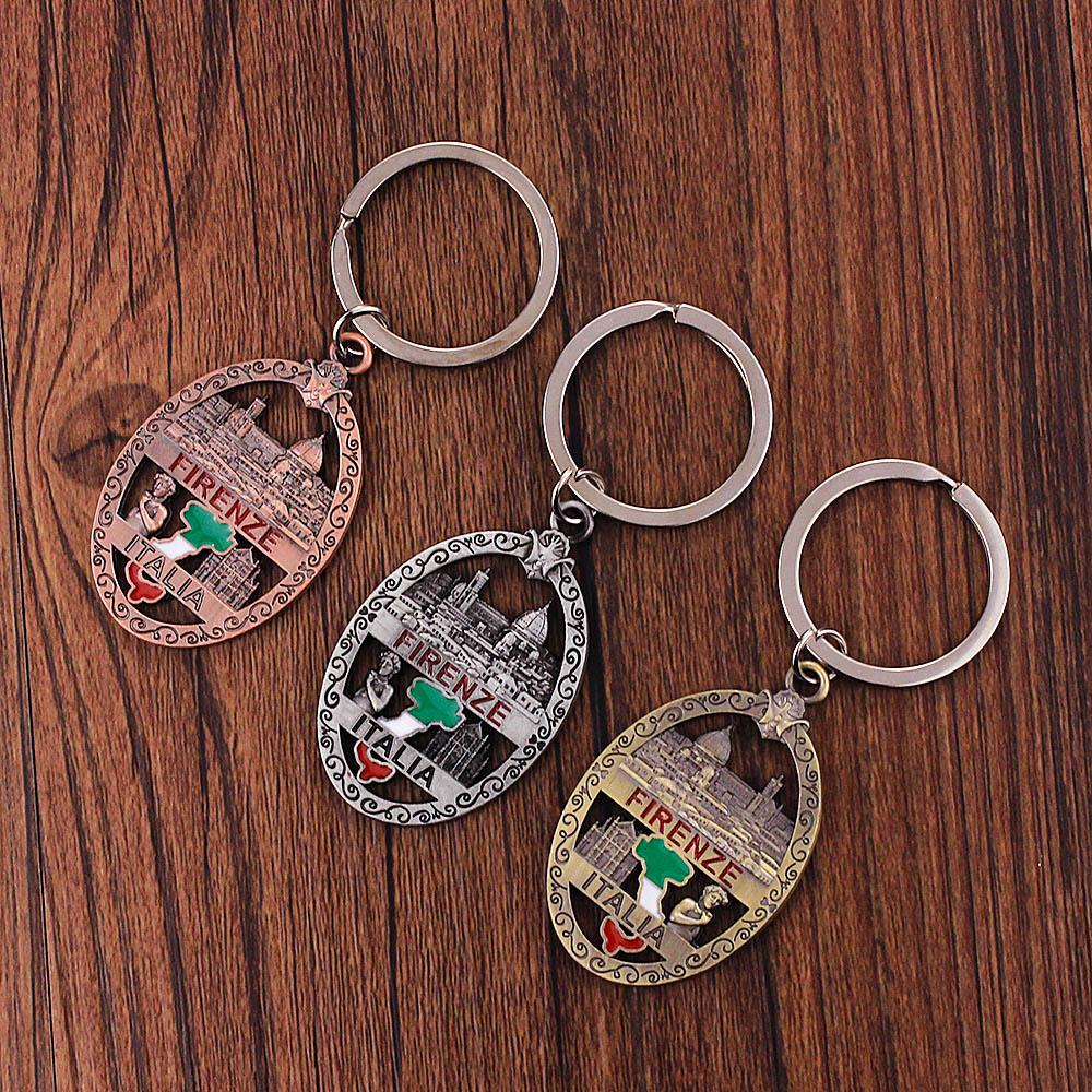 Hong Kong Key Ring /& Fridge Magnet Set