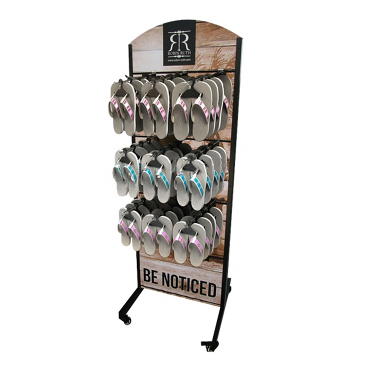 shoe store <strong>retail</strong> flip flops display rack,slipper sandals or hanging display stand