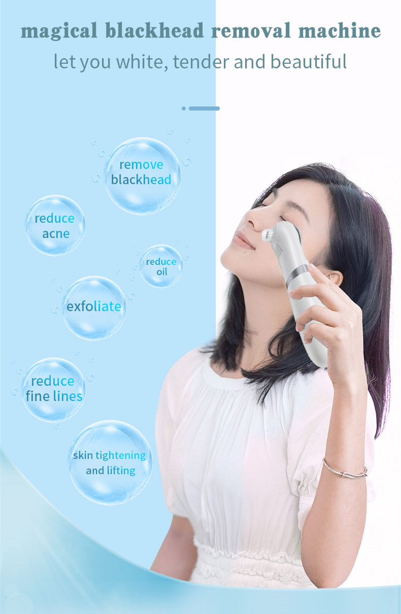 2020 Facial Cleansing Pore Nose Skin Scrubber Face Lifting Acne Blackhead Remover Vacuum
