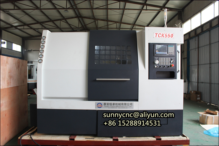 CNC 4 Axis Slant Bed CNC Lathe With X Y Z C And Power Milling Tool Turret