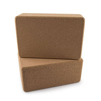 recycled sustainable eco friendly wood cork yoga block brick