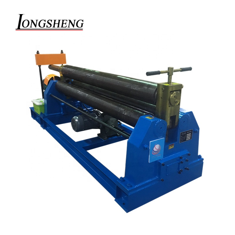 high quality <strong>W11</strong> <strong>6x2000</strong> symmetrical mechanical type steel roller bending machine 3 roller sheet metal plate rolling machine