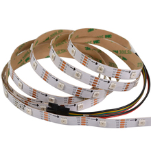 CE certified 30LED/m HD107S / APA102 Addressable <strong>RGB</strong> LED Flexible Strip white PCB 30 Pixel/m