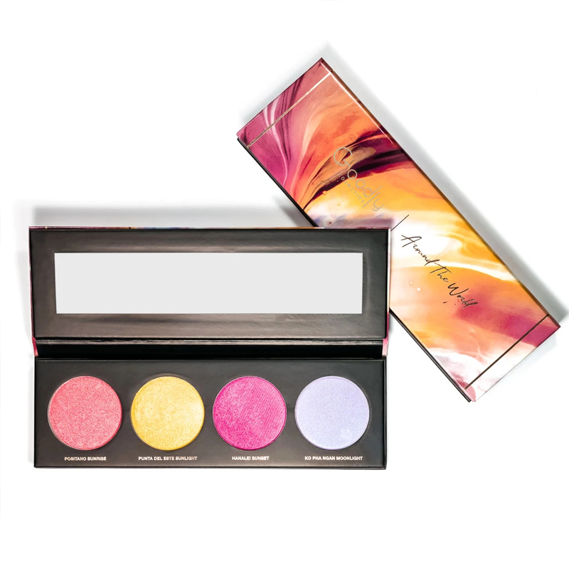 Private Label Cosmetics Face <strong>Eye</strong> and Body Light Infusion Palette Colorful Glowing Effect <strong>Eye</strong> Palette