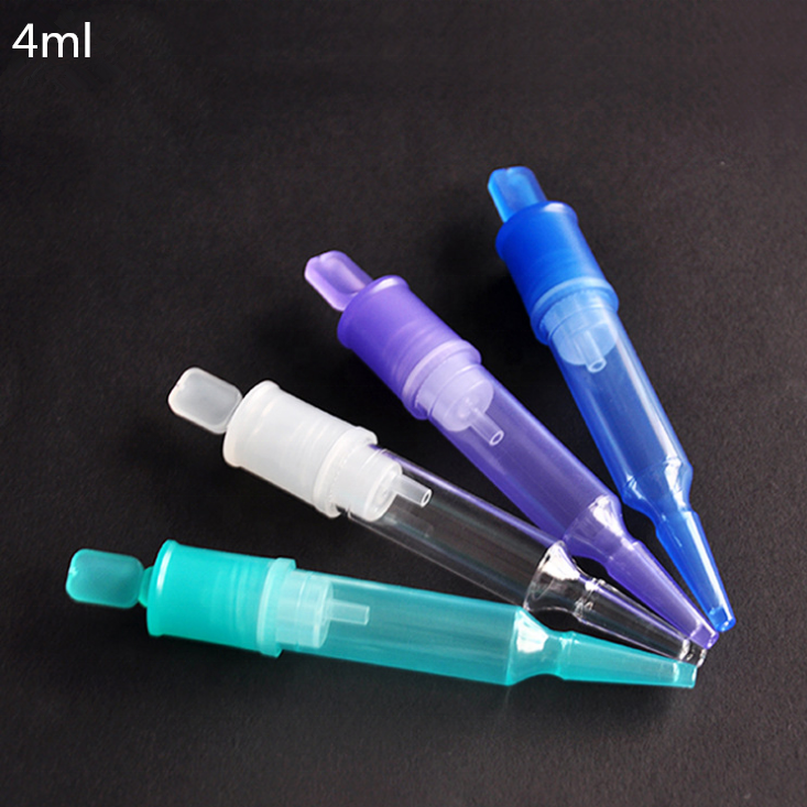 5ml square airless bottle, trial essence fresh-keeping bottle ,disposable syringe tube
