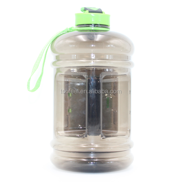 New Outdoor Frosted Sports Water Bottle BPA Free Tritan Plastic Water Bottle With Storage