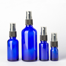 30 ml 50 ml <strong>100</strong> ml cobalt blue glass spray bottle perfume pump spray cap glass bottle