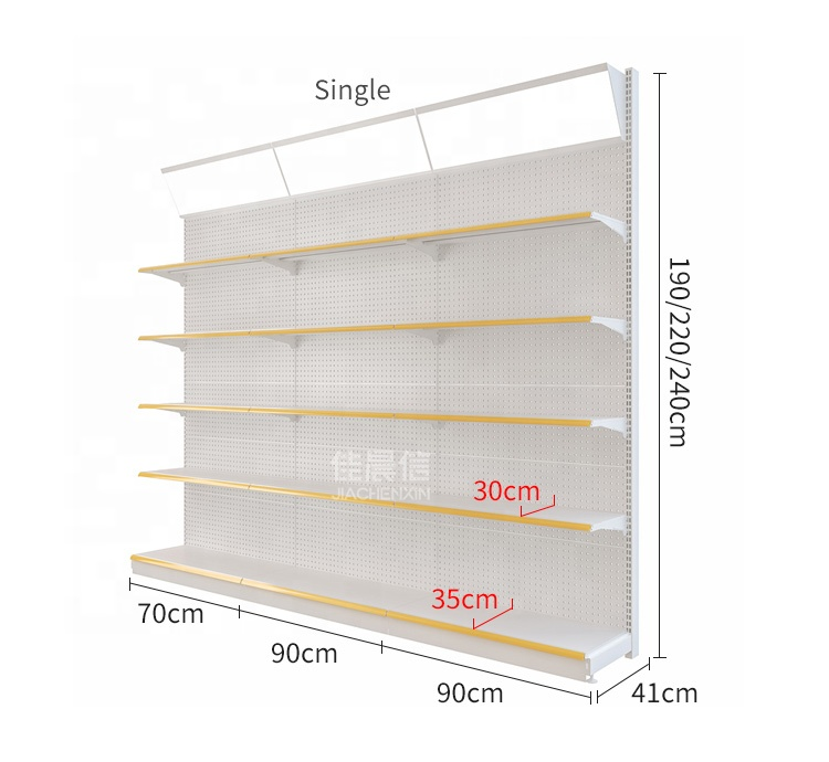 Single&amp;Double-sided Grocery Display Shelf /Rack <strong>Retail</strong> Shelving/Storage Shelf for Convenience Store