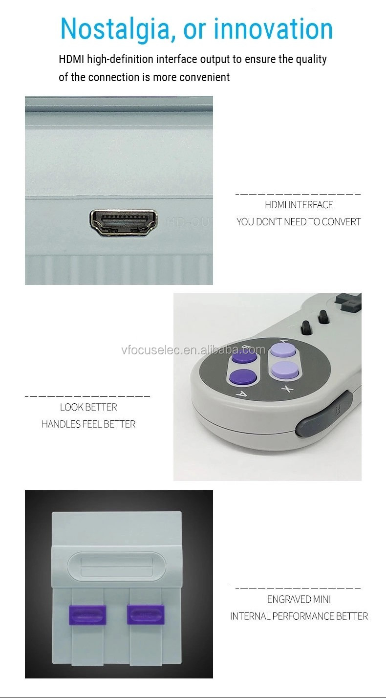 Super Mini SFC TV Game SN-02 Mini HD HMI TV Video Game Console Player Built-In 821 Childhood Classic Retro Games