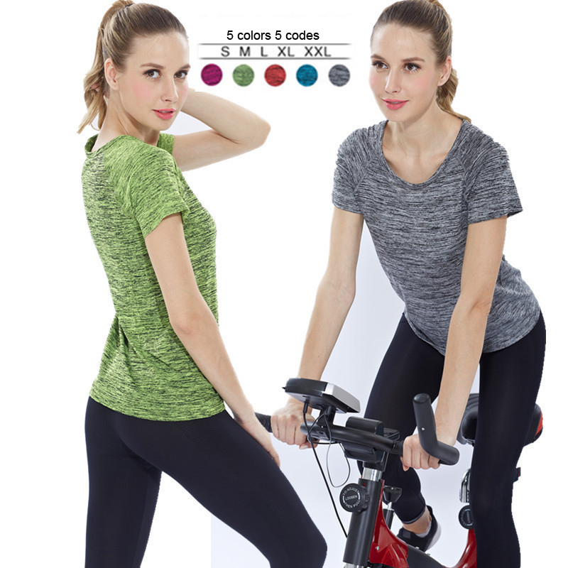 Wholesale Women's Yoga Tops Fitness Gym Wear Sport T Shirt