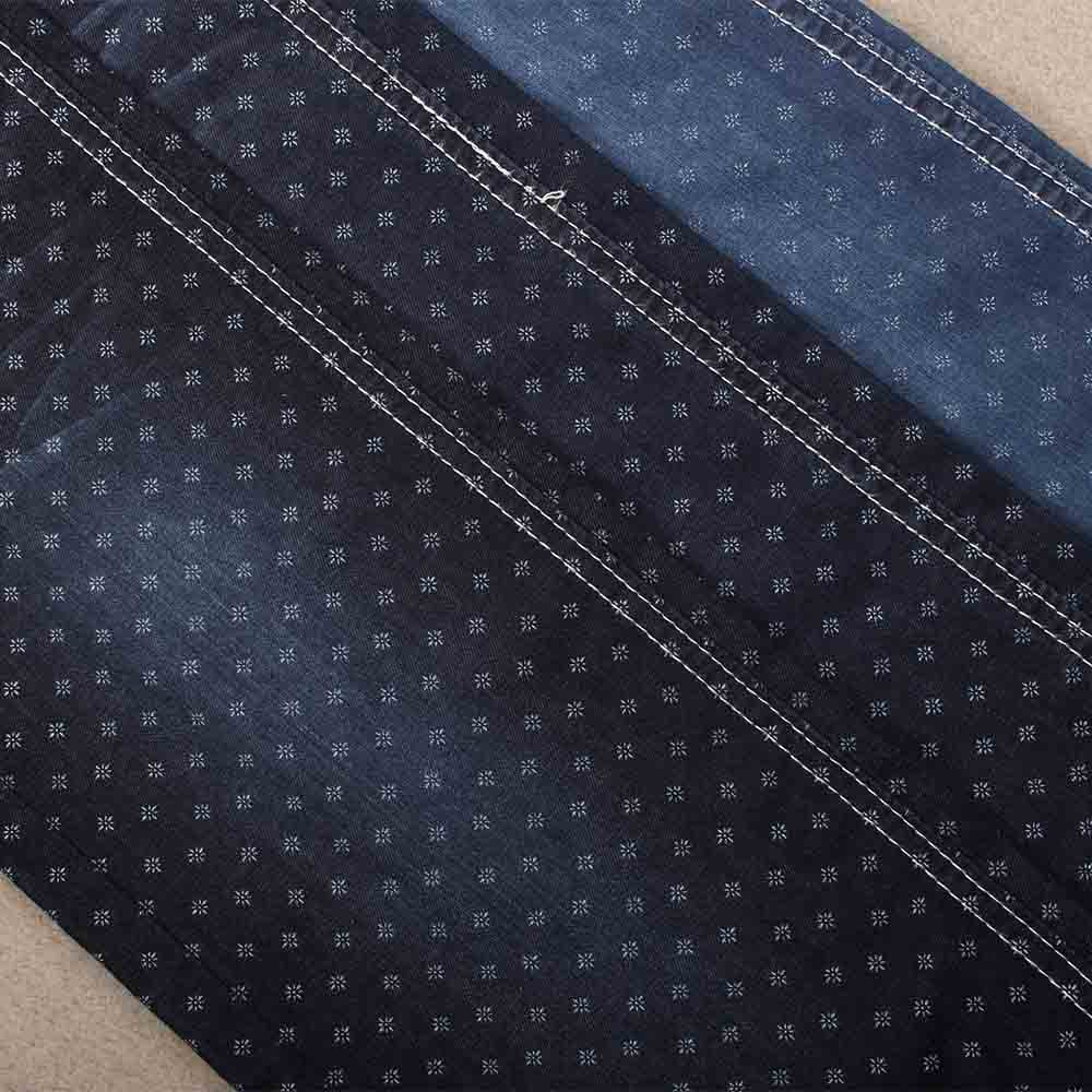 Wholesale high quality polyester cotton printed denim fabric
