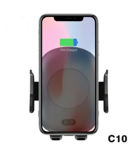 Fully Automatic Induction Air Vent Mount Phone Holder C9 <strong>C10</strong> C11 Fast Charging Wireless Car Charger