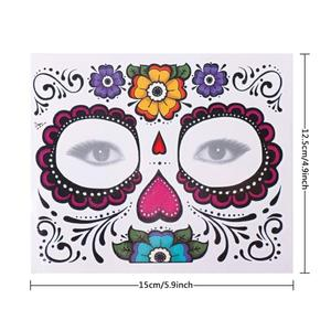 Custom festival decoration face tattoo sticker Body Art Tattoo Stickers For Halloween