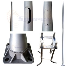 High quality hairlined muti-types aluminum street light pole accessories