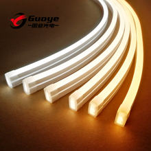Factory led neon lights 8*16mm 12V 24V food grade silicone cover IP67 white <strong>RGB</strong> neon led strip free shipping