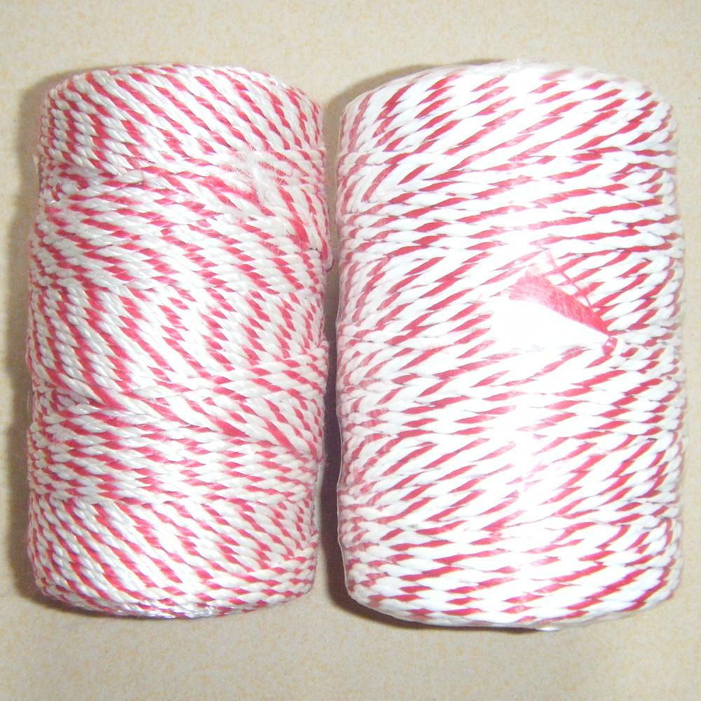 10m//20m longitudes Cordel Rojo-Rojo y Blanco de la cadena de envoltura de regalo de Navidad