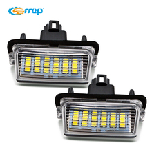 2Pcs LED License Plate Lâmpada Luz Para Toyota Camry Corolla Prius Yaris Verso-s, powered by 18SMD Xenon White LED Acende