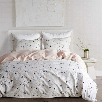 3pcs design luxury bed sheet set 100% cotton