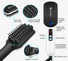 <strong>Best</strong> Professional Ionic <strong>Hair</strong> Straightening Brush Comb Beard <strong>Straightener</strong>