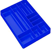 10 Pc Black Flocked Plastic Tray Inserts With 8 Compartments 14 <strong>1</strong>/4&quot; <strong>x</strong> 7 <strong>1</strong>/2&quot;