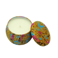 wholesale soy wax personalized custom tin votive scented candles for event