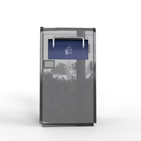Smart bin with solar panel smart waste bin with compression