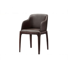Solid wood genuine leather restaurant <strong>furniture</strong> dining chairs