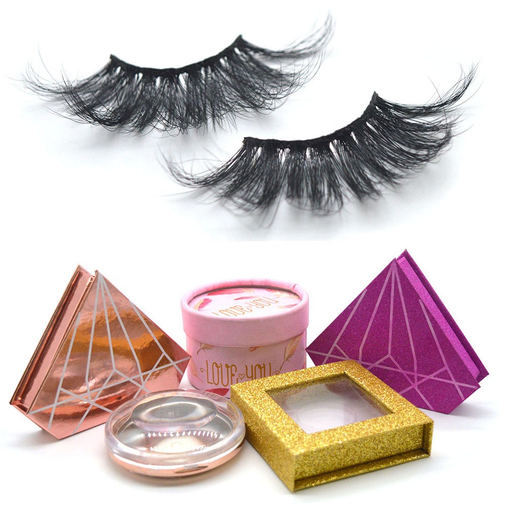 Wholesale Eyelashes High Quality Real 100% 3d Mink Private Label 3d Mink Eyelashes