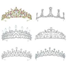 Wholesale crystal flower <strong>crown</strong> hair accessories pearl wedding bridal full <strong>crown</strong> tiara